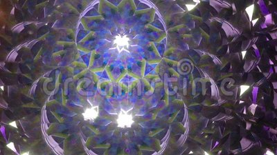 Real kaleidoscope background. No digital effect stock footage
