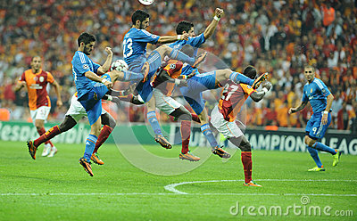 League group b soccer match at turk telekom arena in istanbul