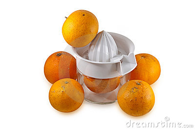 Real Oranges isolated on white