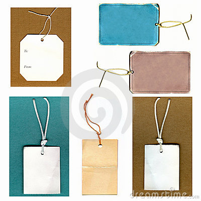 Real Paper Tags Set