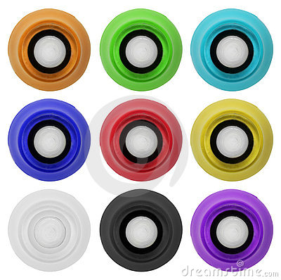 Real rubber button set 4 | Isolated