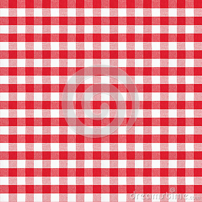 Real seamless pattern of red classic tablecloth