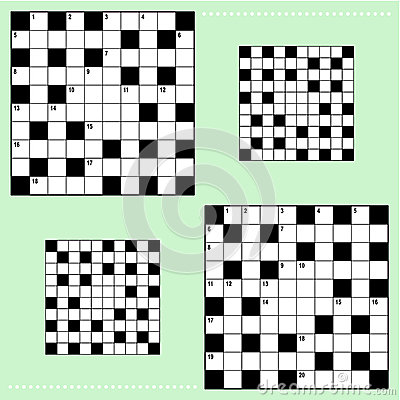 Real size crossword puzzle grids