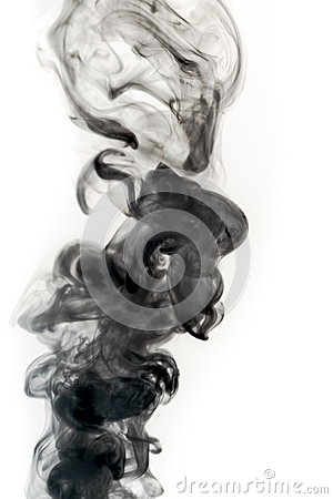 Real Smoke on a White Background