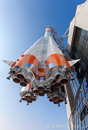 Real Soyuz type rocket  Editorial Photography