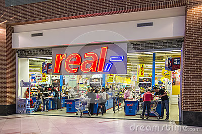 Real Supermarket Cash Out Editorial Image