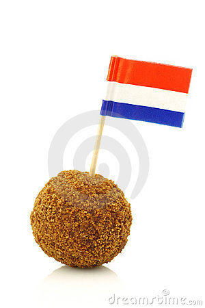 A real traditional Dutch snack called bitterbal