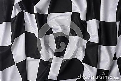 Real waving checkered flag