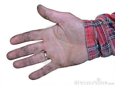 Real worker hand