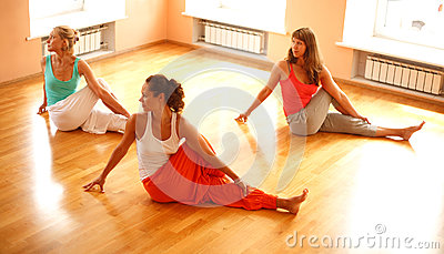 Real yoga class
