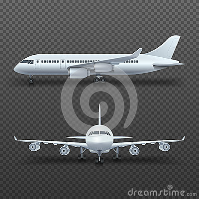 Free Realistic 3d Detail Airplane, Commercial Jet Isolated Vector Illustration Royalty Free Stock Photos - 82393298