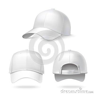 Realistic baseball cap Vector Illustration