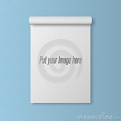 Realistic blank Template of open Notepad Vector Illustration