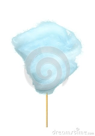 Free Realistic Blue Cotton Candy On Stick Isolated Royalty Free Stock Images - 103142799