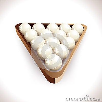 Realistic brilliant balls