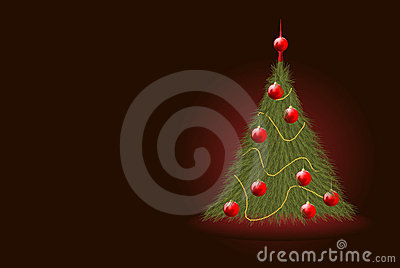 Realistic Christmas tree