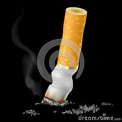 Realistic cigarette butt