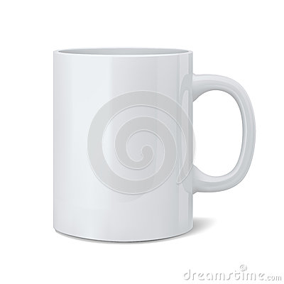 Free Realistic Classic White Cup Royalty Free Stock Image - 30158116