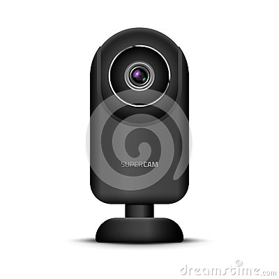 Free Realistic Computer Web Camera. Video Camera Technology Digital Illustration. Webcam Device Royalty Free Stock Image - 92751166