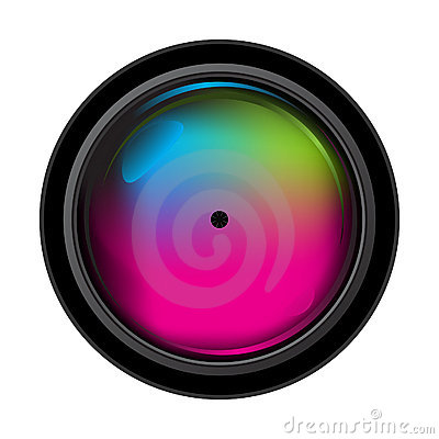 Realistic digital camera lens