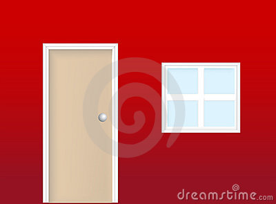 Realistic door and window