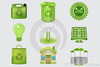 Realistic Eco Icons
