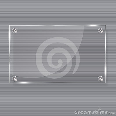 Realistic glass frames. Vector illustration.
