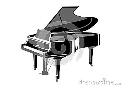 Realistic grand piano