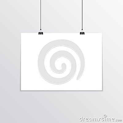 Free Realistic Horizontal Poster Mockup A4. Royalty Free Stock Photos - 85518098