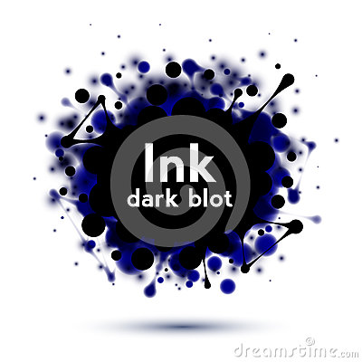 Realistic ink splash banner