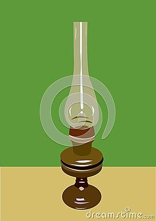 Realistic kerosene vintage lamp