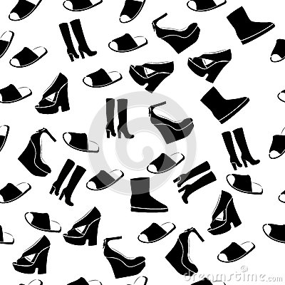 Realistic ladies shoe. Vector Illustration