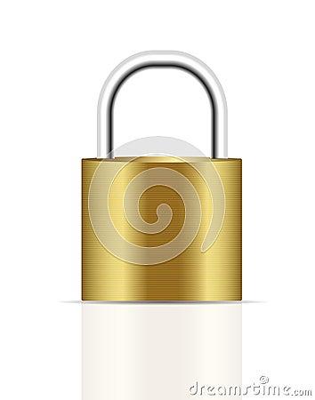 Realistic lock vector illustration