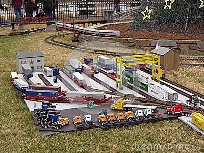 Realistic Model Railroad Editorial Stock Image