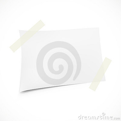 Realistic note paper