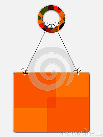 Realistic orange banner on the threads