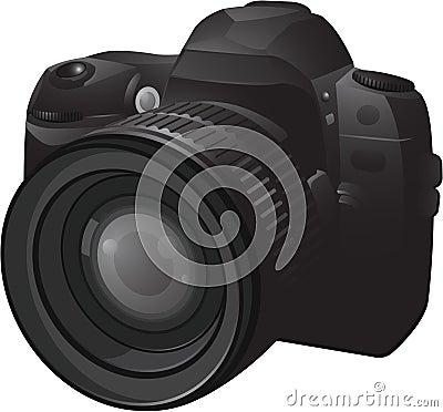 Realistic photo camera
