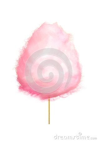 Free Realistic Pink Cotton Candy On Stick Isolated Royalty Free Stock Photography - 103142767