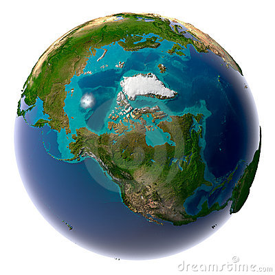 Realistic Planet Earth with natural