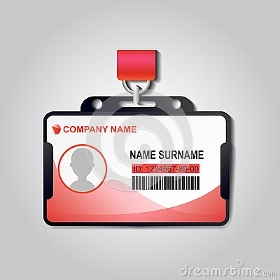 Free Realistic Plastic ID Card Badge With Lanyard Vector. Identiry Business Mockup Illustration Design. Security Access Blank Template Royalty Free Stock Photography - 120756257