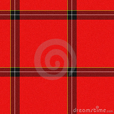 Realistic seamless tartan with visible threads