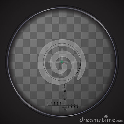 Free Realistic Sniper Sight On Transparent Background Stock Photo - 78208600