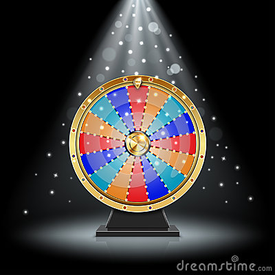 Free Realistic Spinning Fortune Wheel Stock Image - 99122901
