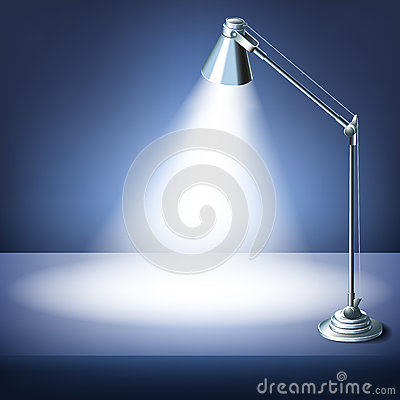 Free Realistic Vector Office Table With A Desk Lamp Stock Image - 60790011
