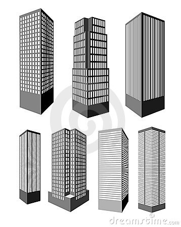 Realistic vector skyscrapers