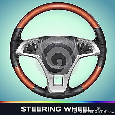 Free Realistic Vector Steering Wheel Stock Photo - 31082560