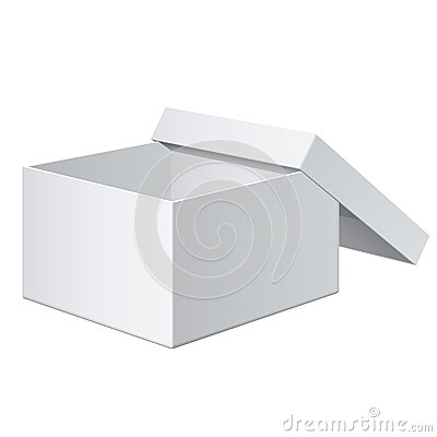Realistic White Box. For electronic device. Vector