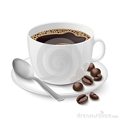 Free Realistic White Cup Filled With Espresso Stock Photo - 38163250
