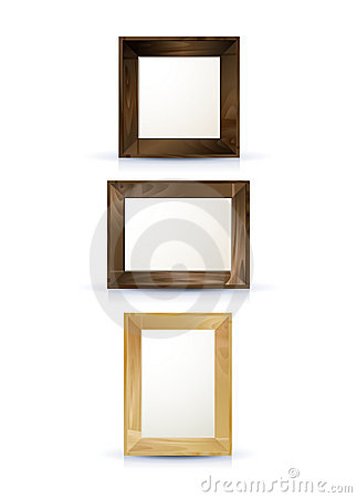 Realistic wooden frames