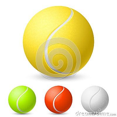 Realistische tennisbal in verschillende kleuren stock afbeelding beeld 21582641 - Sterke witte werpen en de bal ...